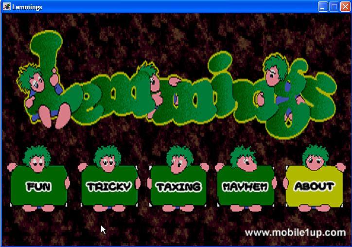 Lemmings pour PC (3, 5 MiB, 1 418 hits)