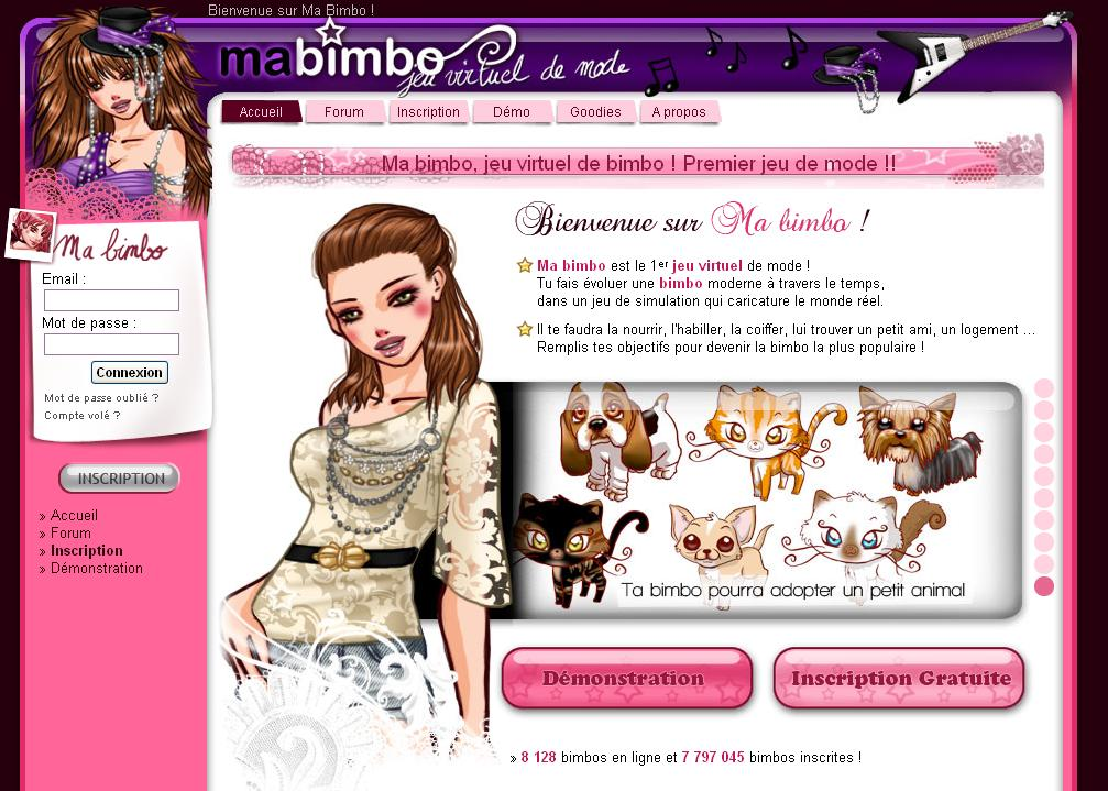 ma bimbo jeu virtuel de mode un jeu pour les filles. Black Bedroom Furniture Sets. Home Design Ideas