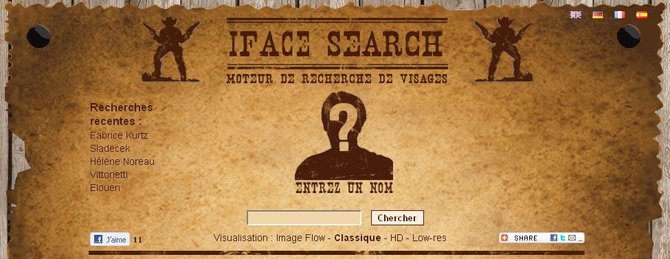 Moteur de recherche de visages