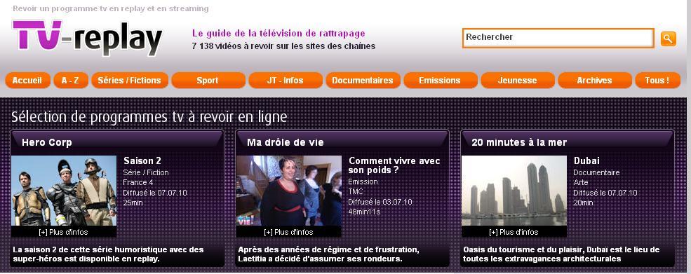 Télé de rattrapage : voir et revoir, TV-replay