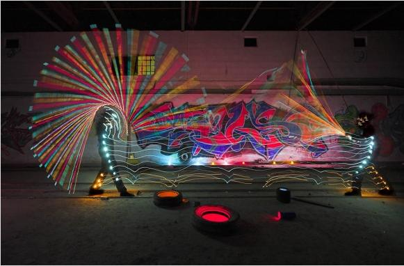 A lire sur le Web, le Light Painting, explications, exemples