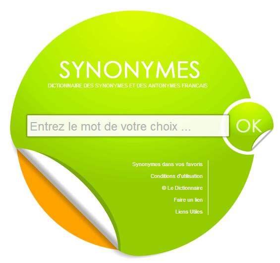 Dictionnaire de synonymes en ligne for Synonyme de fenetre