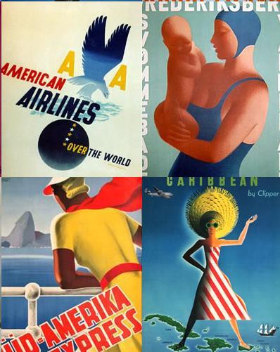 Anciennes affiches publicitaires à revoir