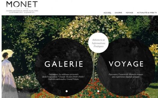 Le site de l'exposition Monet est en ligne