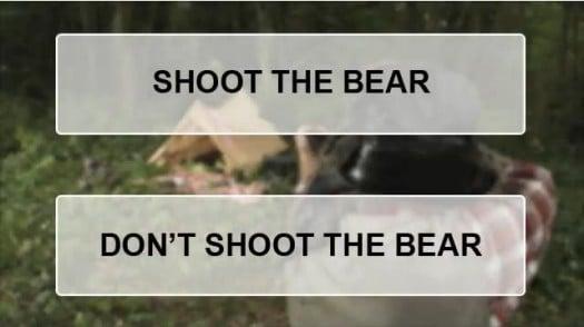 Le chasseur doit-il tuer l'ours ? Publicité virale
