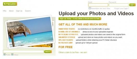Hébergement de photos et vidéo illimité avec Mejuba