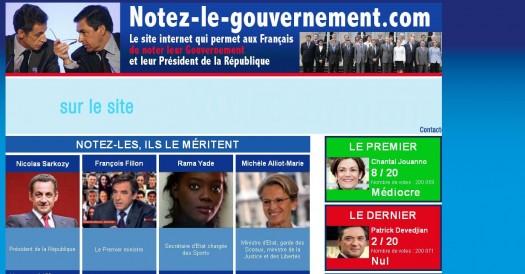 Un site pour noter le gouvernement