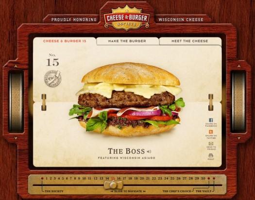Site publicitaire pour apprendre à faire des Cheese Burger