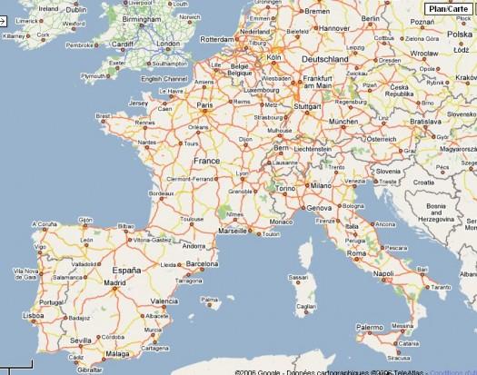 Apprendre la géographie avec Google Maps