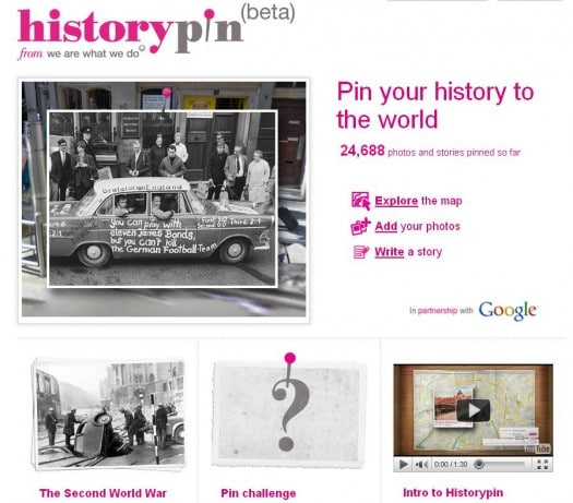 Photographies du passé sur Google Maps – Historypin.com