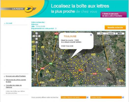 Comment localiser une bo te lettres sur google maps les infos de ballajack - Localiser bureau de poste ...