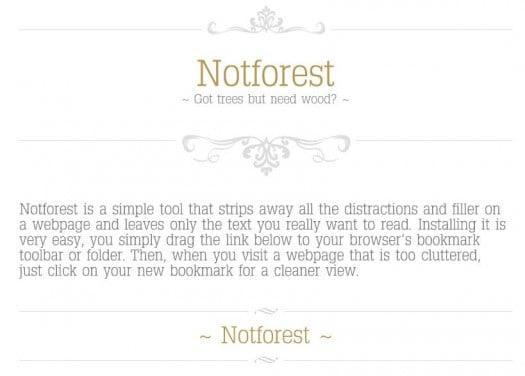 Extraire l'essentiel d'une page Web - Notforest