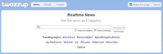 Twazzup pour bien filtrer les news sur un sujet précis