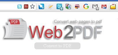 Extension Chrome pour convertir une page Web en fichier PDF