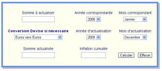 calculateur d inflation depuis 1901 application en ligne les infos de ballajack. Black Bedroom Furniture Sets. Home Design Ideas