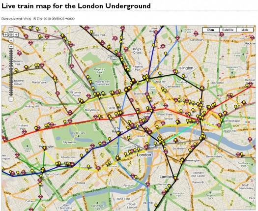 Suivre Le Trafic Du Metro De Londres En Temps Reel