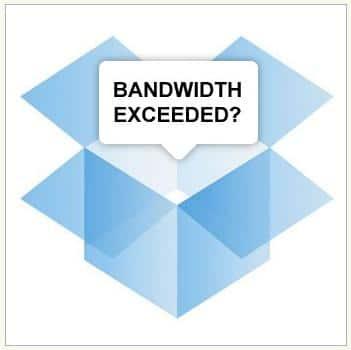 Limite Bandwith de Dropbox