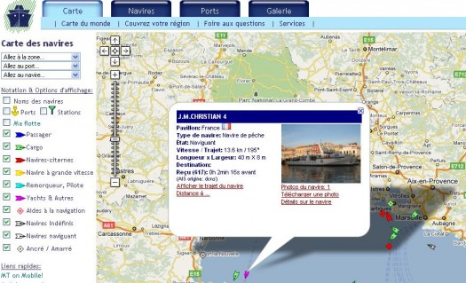 Visualiser le trafic portuaire sur Google Maps