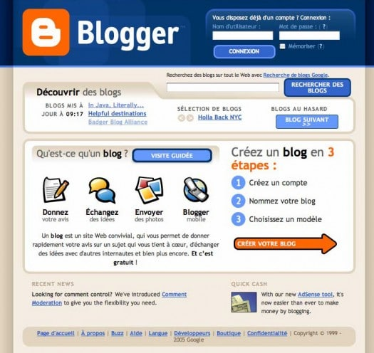 trouver template blogger