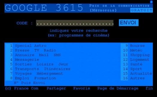 3615 Google, le retour du Minitel