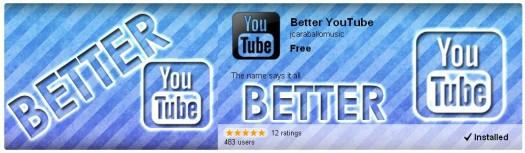Une extension Chrome pour améliorer YouTube