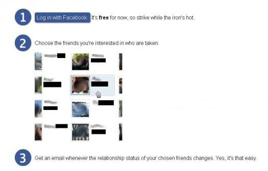 Application Facebook pour trouver des célibataires