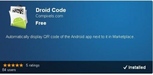 Comment afficher les codes QR sur l'Android Market