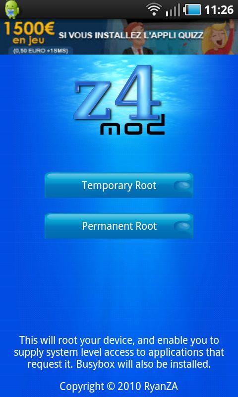 z4root-ecran