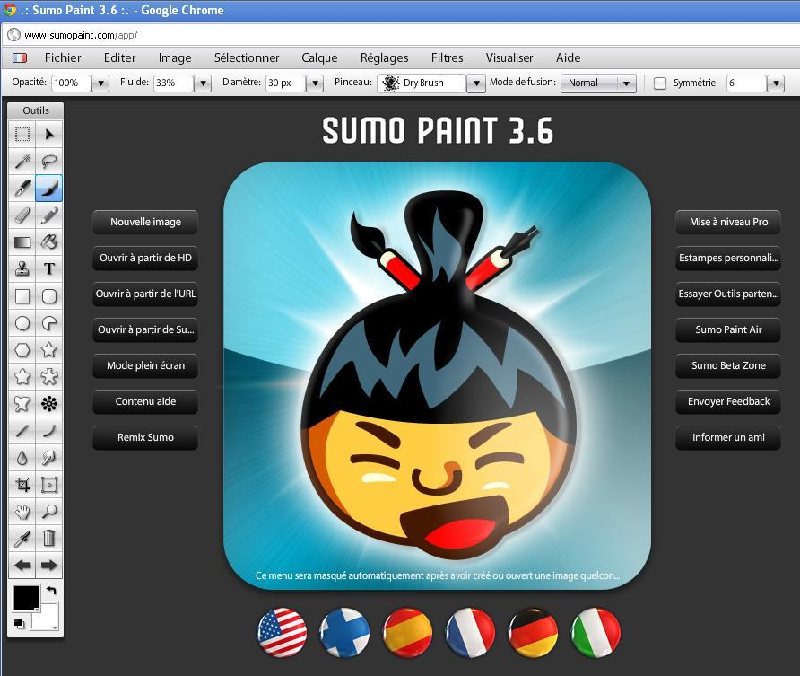 sumo paint un logiciel de dessin en ligne en fran ais. Black Bedroom Furniture Sets. Home Design Ideas
