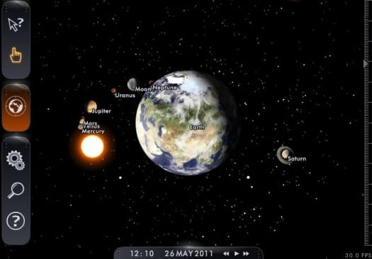 Un planetarium virtuel en ligne, Solar System Scope