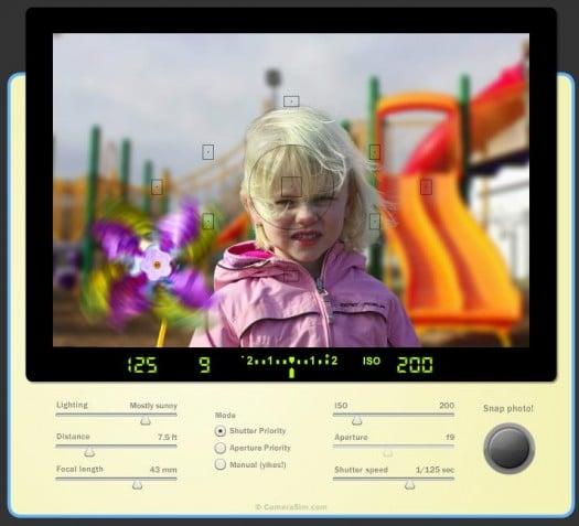 Un simulateur pour apprendre à utiliser un appareil photo