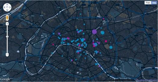 Où sont les geek(ette)s, une carte pour les trouver à Paris