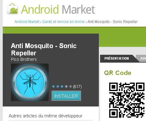 Une application Android pour chasser les moustiques
