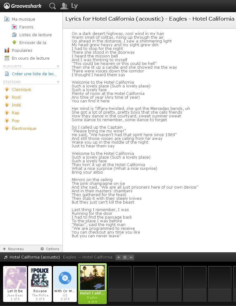 Comment Afficher Les Paroles Des Chansons Dans Grooveshark