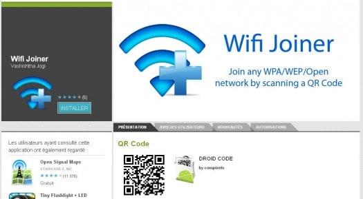 Se connecter à des réseaux WIFI en scannant un code QR