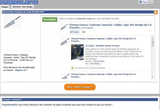 Découvrir au hasard des pages Facebook francophones