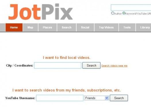 Visualiser les vidéos de YouTube sur Google Maps, JotPix