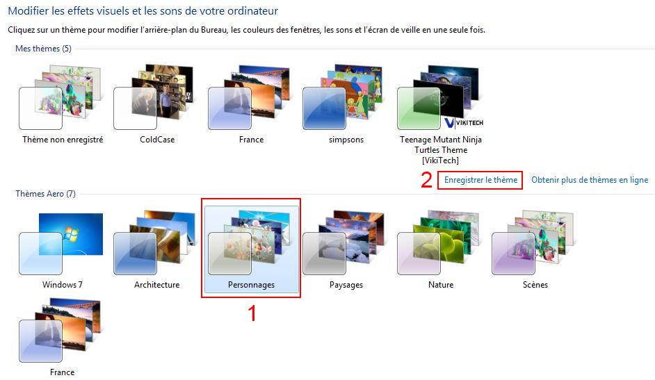 Comment sauvegarder un th me de bureau windows 7 les for Windows 7 bureau vide