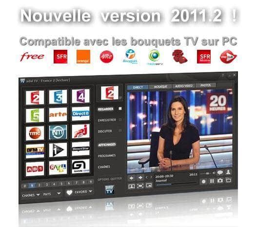 Transformer son PC en télévision et radio, ADSL TV/FM