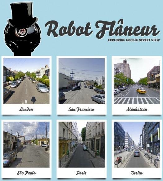 Flaner dans les grandes villes du monde, Robot Flâneur