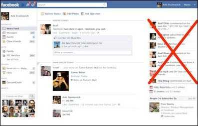Supprimer le Ticker (Telex) de Facebook