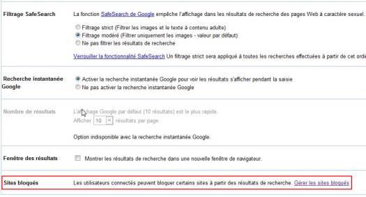 google-bloquer-site-access