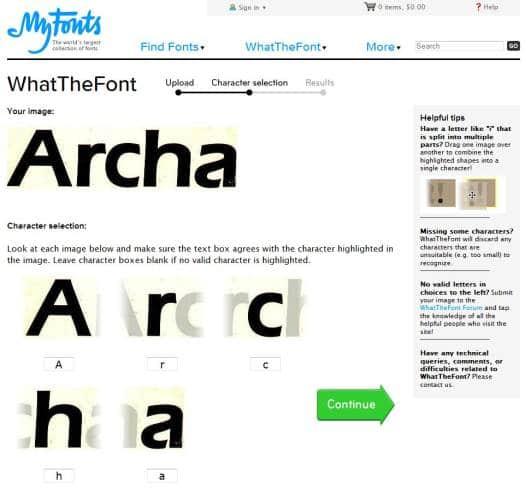 whatthefont-exemple
