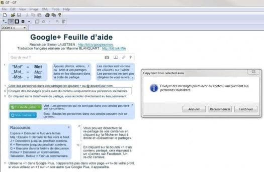 Utilitaire OCR pour extraire du texte d'une image