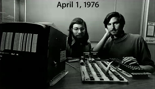 La vie et l'œuvre  de Steve Jobs sur Google Maps