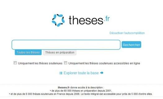 Un moteur de recherche de thèses de doctorat, Theses.fr