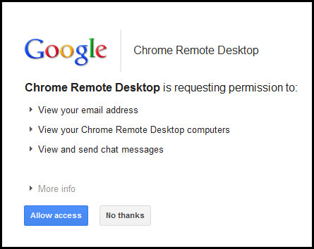 chrome-remote-desktop-acces