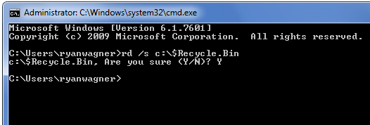 empty-recycle-bin-command-line