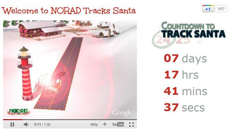 Suivre la tournée du Père Noël avec le Norad