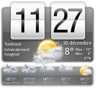 Le widget htc sur le bureau de windows htc home - Horloge sur le bureau windows 7 ...